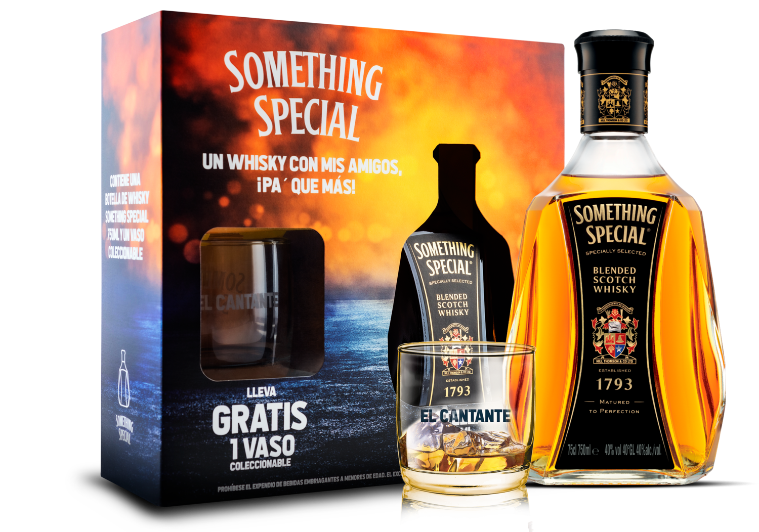ESTUCHE WHISKY SOMETHING SPECIAL + 2 VASOS TEMPORADA 2020