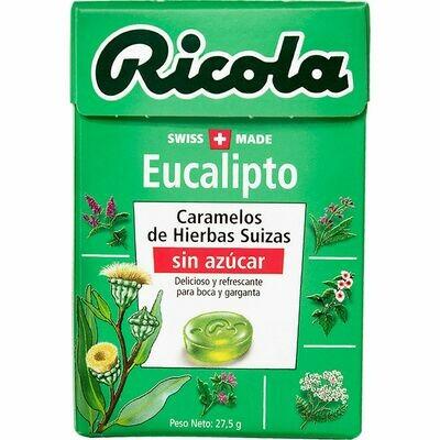 DULCES RICOLA EUCALIPTO X 27.5 GR