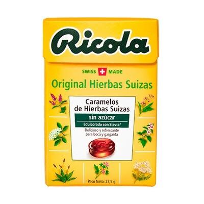 DULCES RICOLA SIN AZUCAR HIERBAS SUIZAS MENTA X 27.5 GR