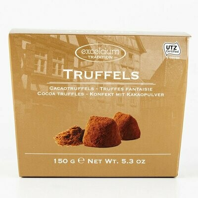 ESTUCHE CHOCOLATE TRUFFELS EXCELCIUM  CACAO X 150 GR