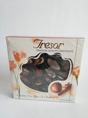 ESTUCHE CHOCOLATE TRESOR SEASHELLS AVELLANAS x 225 GR
