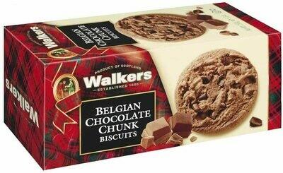 GALLETAS  INGLESAS SHORT WALKERS CON TROZOS DE CHOCOLATE BELGA CAJA X 150 GR