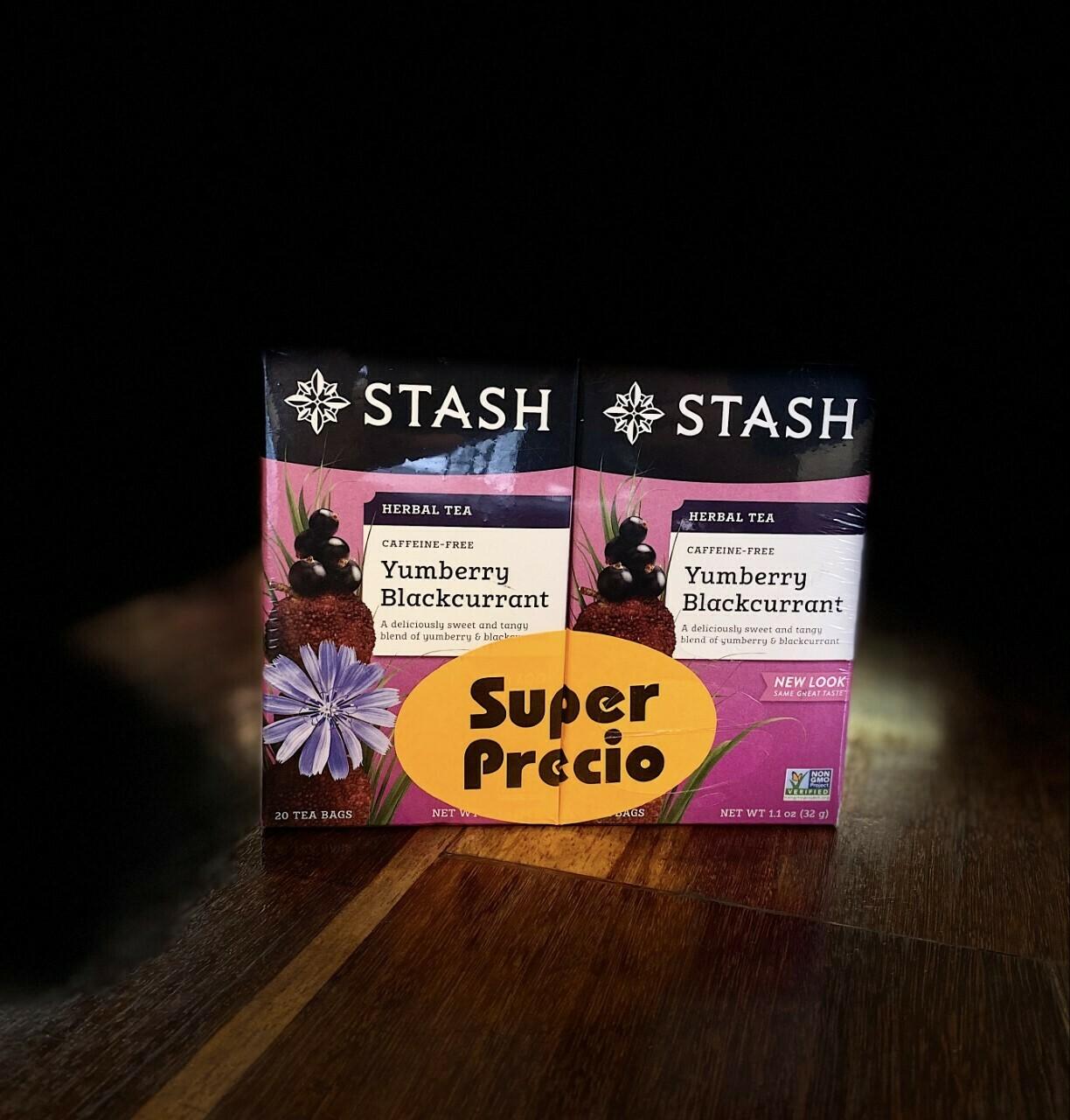 STASH TEA HERBAL PROMOCION  X2 YUMBERRY