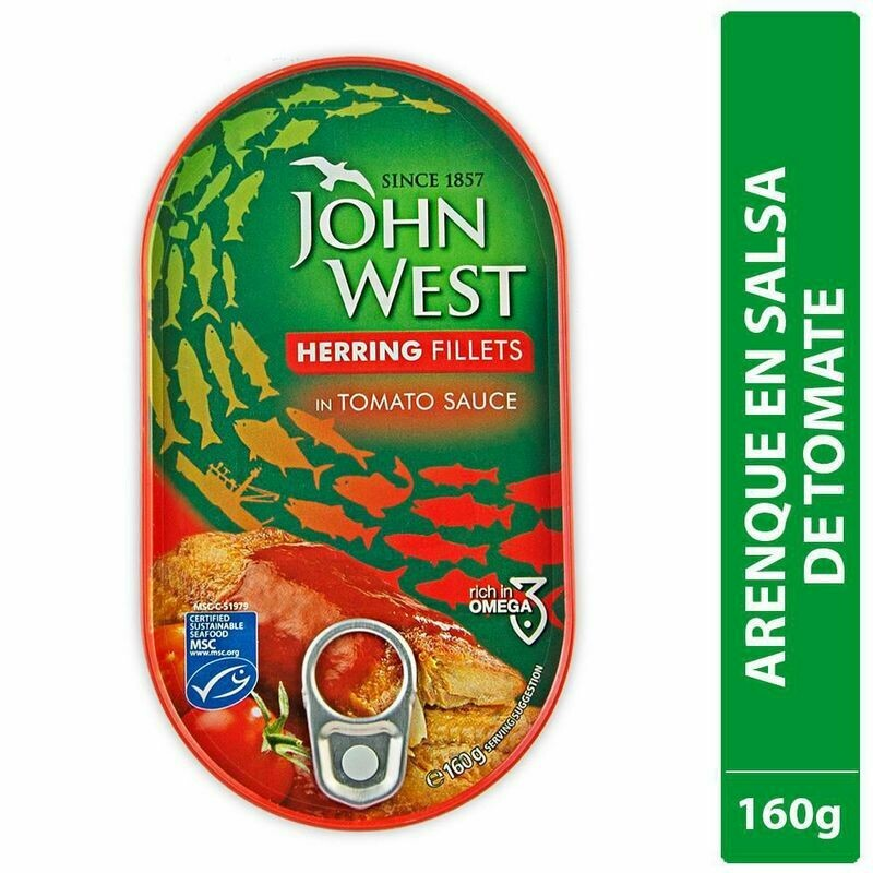 ARENQUES  JOHN WEST  TOMATE LATA X 160 GR