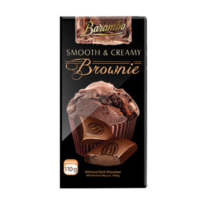 TABLETA CHOCOLATE BARAMBO CON MOUSSE DE BROWNIE X  110GR