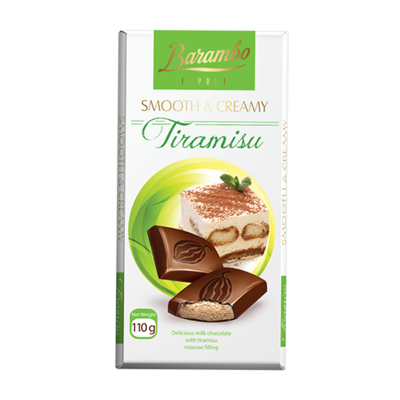TABLETA CHOCOLATE BARAMBO CON MOUSSE DE TIRAMISU X 110GR.