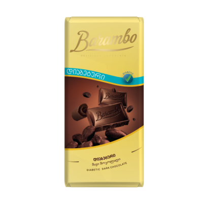 TABLETA CHOCOLATE NEGRO BARAMBO 49% VEGANO X 90GR.