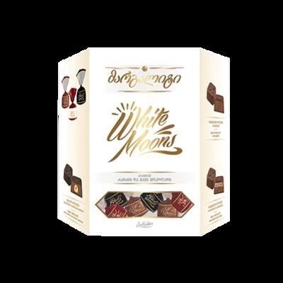 ESTUCHE CHOCOLATE BARAMBO WHITE MOONS X 234 GR  con chocolate con leche y negro