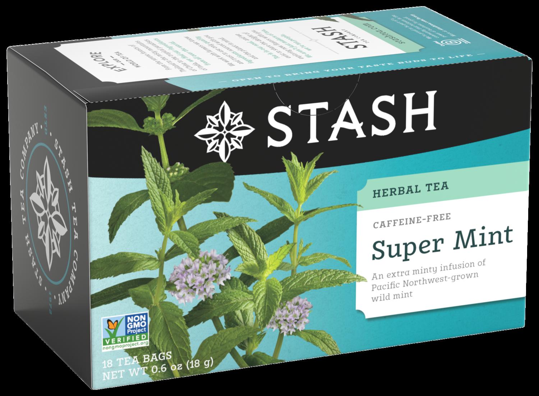 STASH HERBAL SUPER MINT TEA X 18 SOBRES