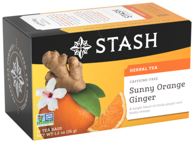 STASH HERBAL SUNNY ORANGE GINGER TEA X 18 SOBRES