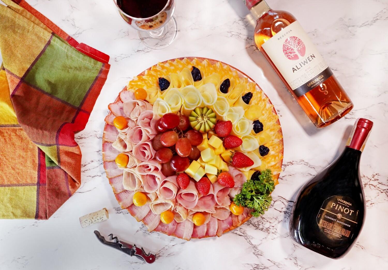TABLA DE CARNES y QUESOS # 1 (3 carnes y 3 quesos) (Precio por persona)