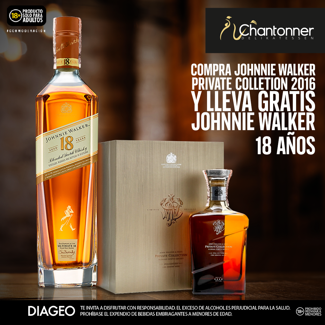 WHISKY JOHN WALKER AND SONS PRIVATE COLLECTION 2016