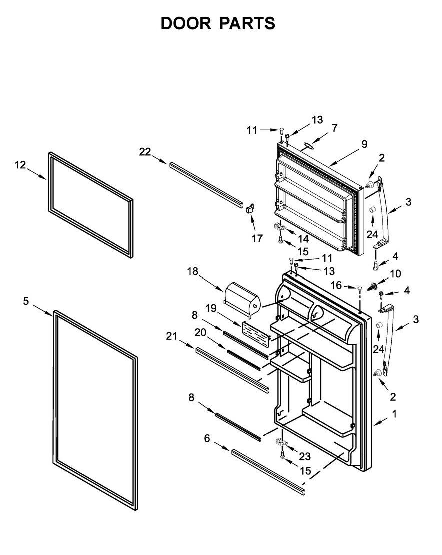 Part# LW10638684 - Refrigerator DOR-FIP
