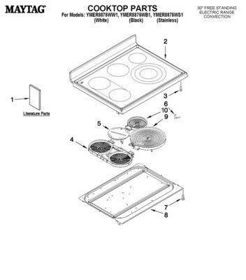 GLASS COOKTOP ASSEMBLY