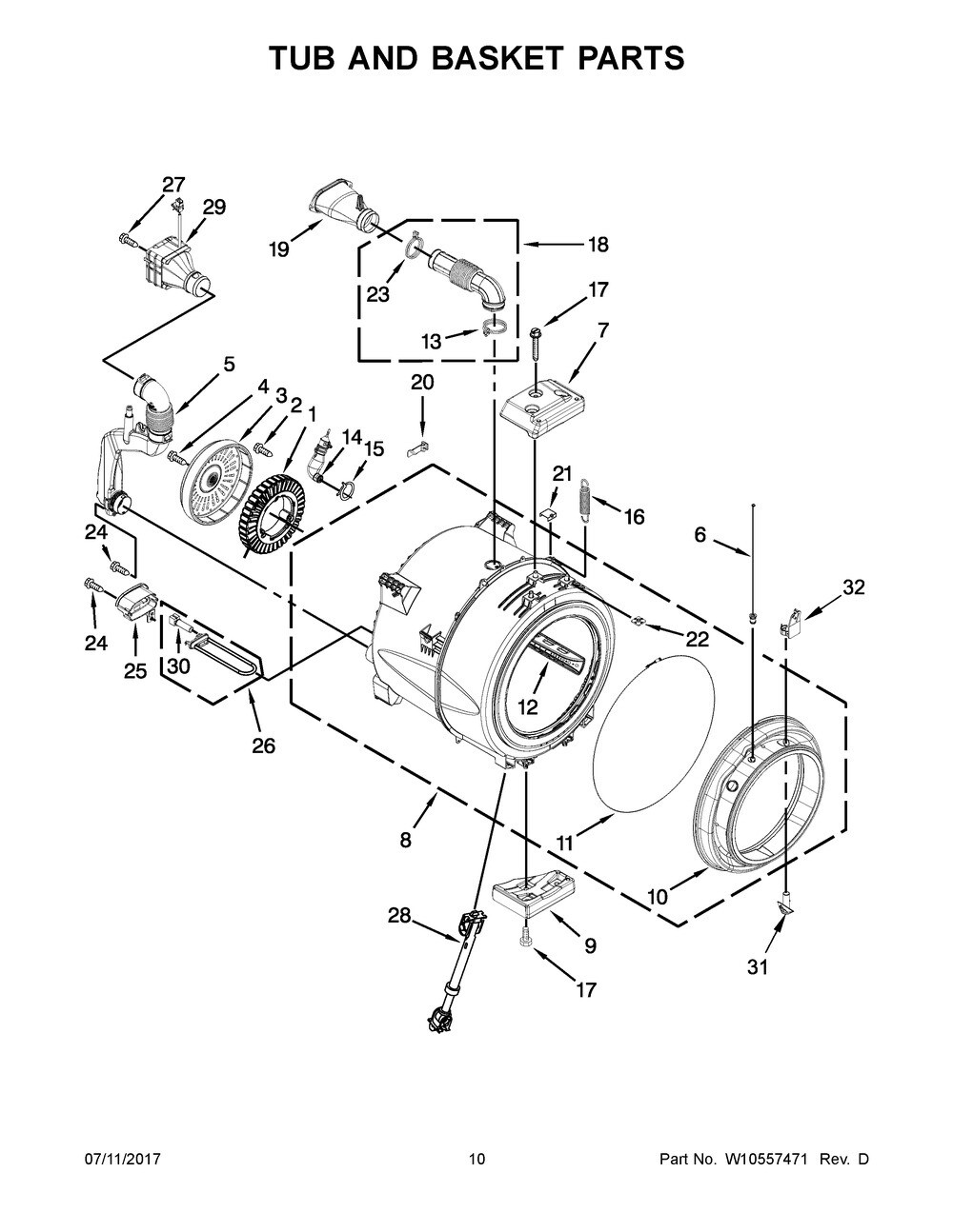 Part# WPW10450389 - TUB-OUTER