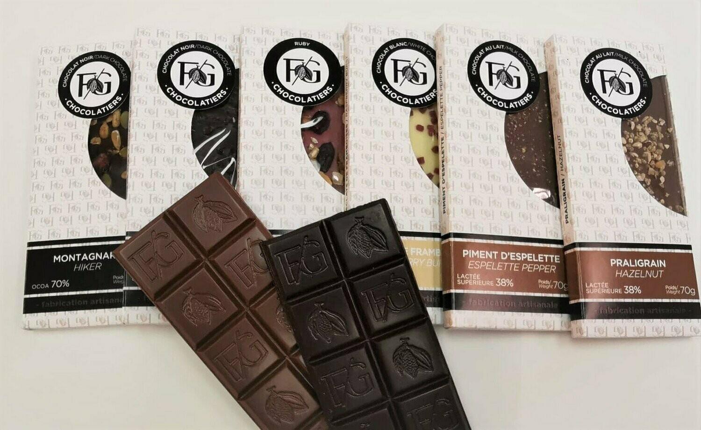 Tablette Grué de Cacao - choc. Lait