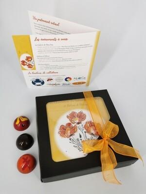 Boîte de 9 chocolats  Collaboration de FG, DD & Miss Rey
