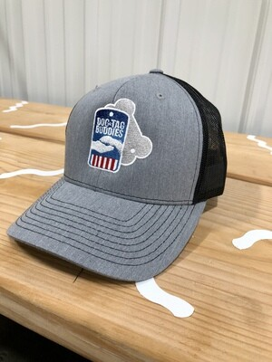 DTB Logo Hat - Light Grey, Open Mesh
