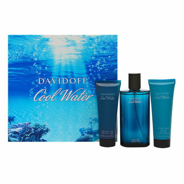 Cool Water by Davidoff 3-Piece Gift Set for men