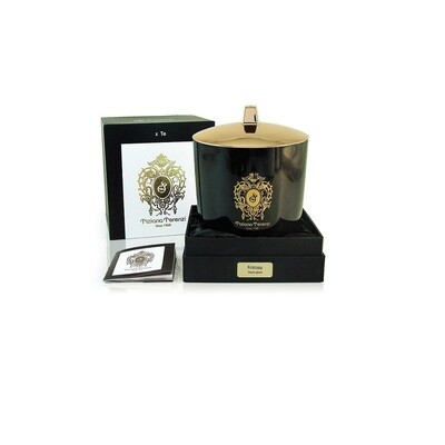 Tiziana Terenzi Ecstasy Perfumed Unisex Candle In Black Glass with Gold lid 1000 Gm