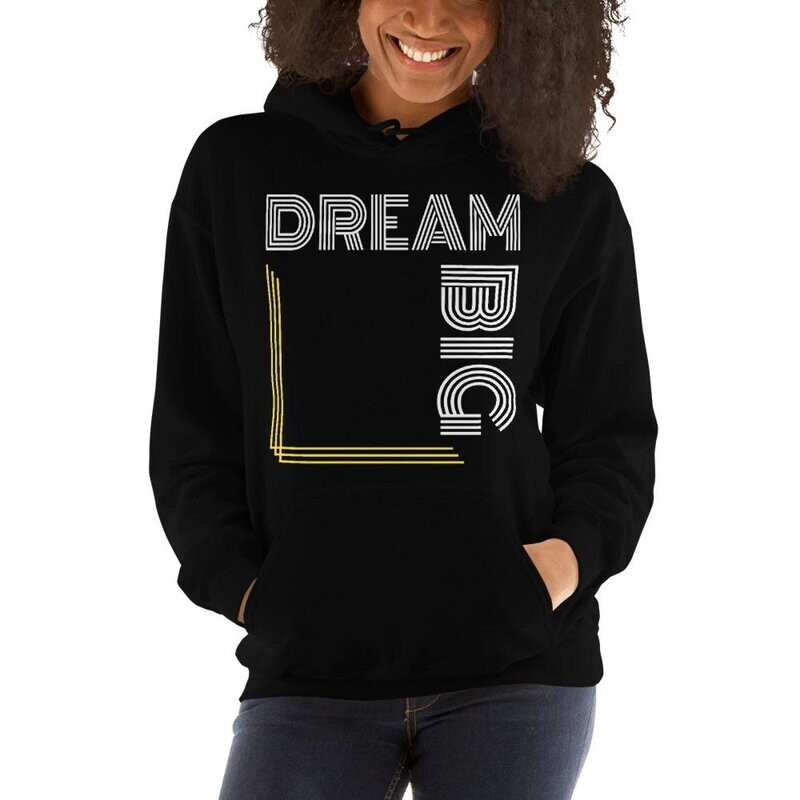 Womens Hoodies, Dream Big Graphic Text Style Hooded Shirt