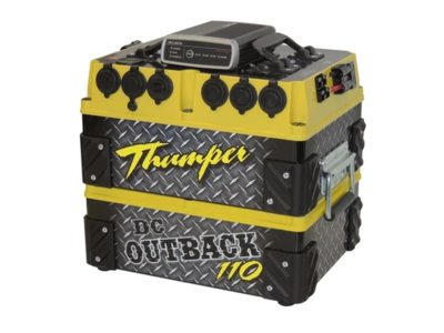 Thumper Outback DC 110 AH Battery Pack | Smart alternator dual battery Click N Collect Only