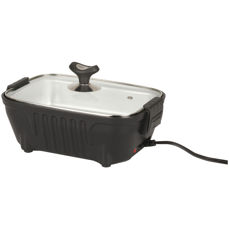 Rovin 12V Portable Lunch Stove with Glass Lid