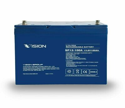 Vision 12V 100Ah LiFePO4 Deep Cycle Battery High Grade Lithium Click n Collect Only