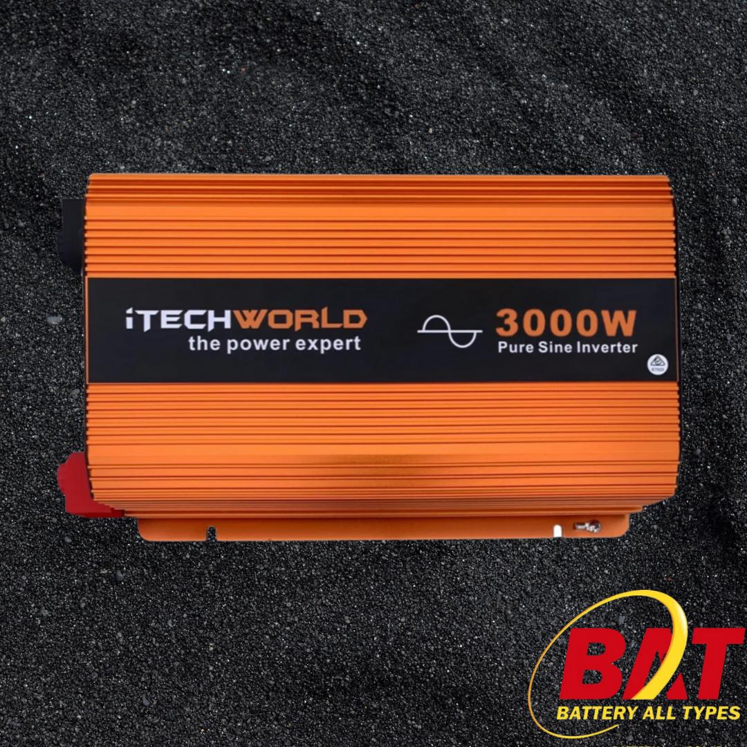 INVERTER 3000 WATT 12V PURE SINE WAVE WITH REMOTE CONTROL ITECH3000W