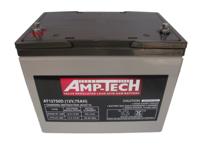 AMPTECH AT12750D AGM Battery – 75AH Pickup Only