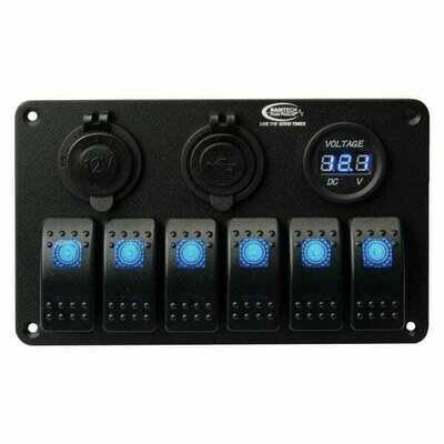 Baintech Aluminum Rocker 6 Switch Panel 12V/24V