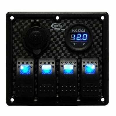 Baintech Aluminum Rocker 4 Switch Panel 12V/24V