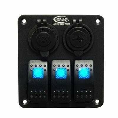 Baintech Aluminum Rocker 3 Switch Panel 12v/24v