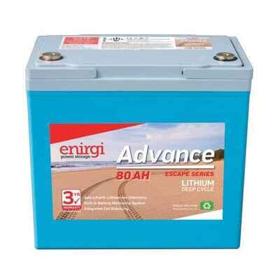 Enirgi Advance Escape Lithium Deep Cycle Battery 12.8V 80AH PICKUP ONLY