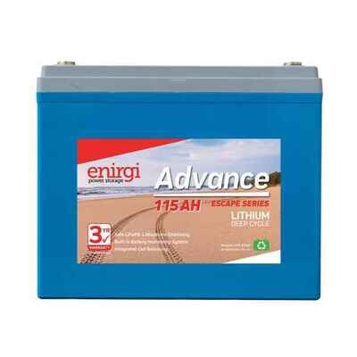 Enirgi Advance Escape Lithium Deep Cycle Battery 12.8V 115Ah PICKUP ONLY
