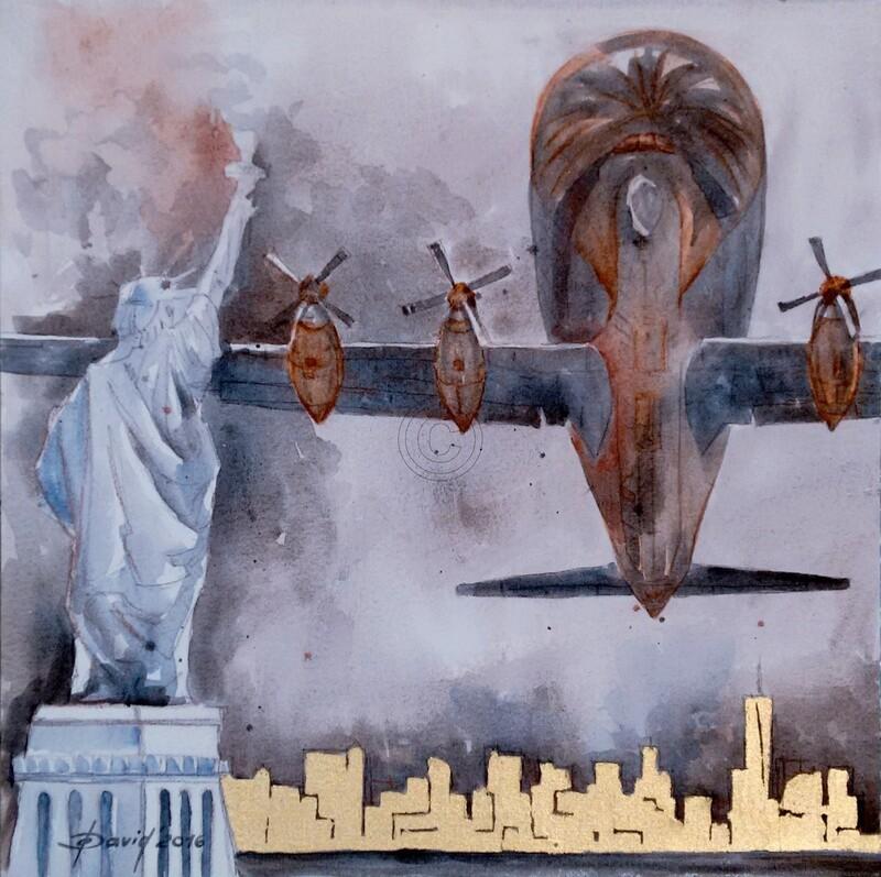 Herrscher II - Original Mixedmedia Gemälde, mit Alurahmen