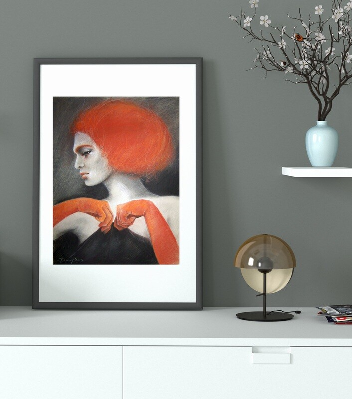 Rothaariges Model - Giclée Fine Art Druck 40x50cm