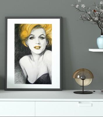 Marilyn Monroe - Giclée Fine Art Druck 50x70cm