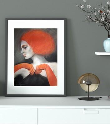 Rothaariges Model - Giclée Fine Art Druck 60x80cm