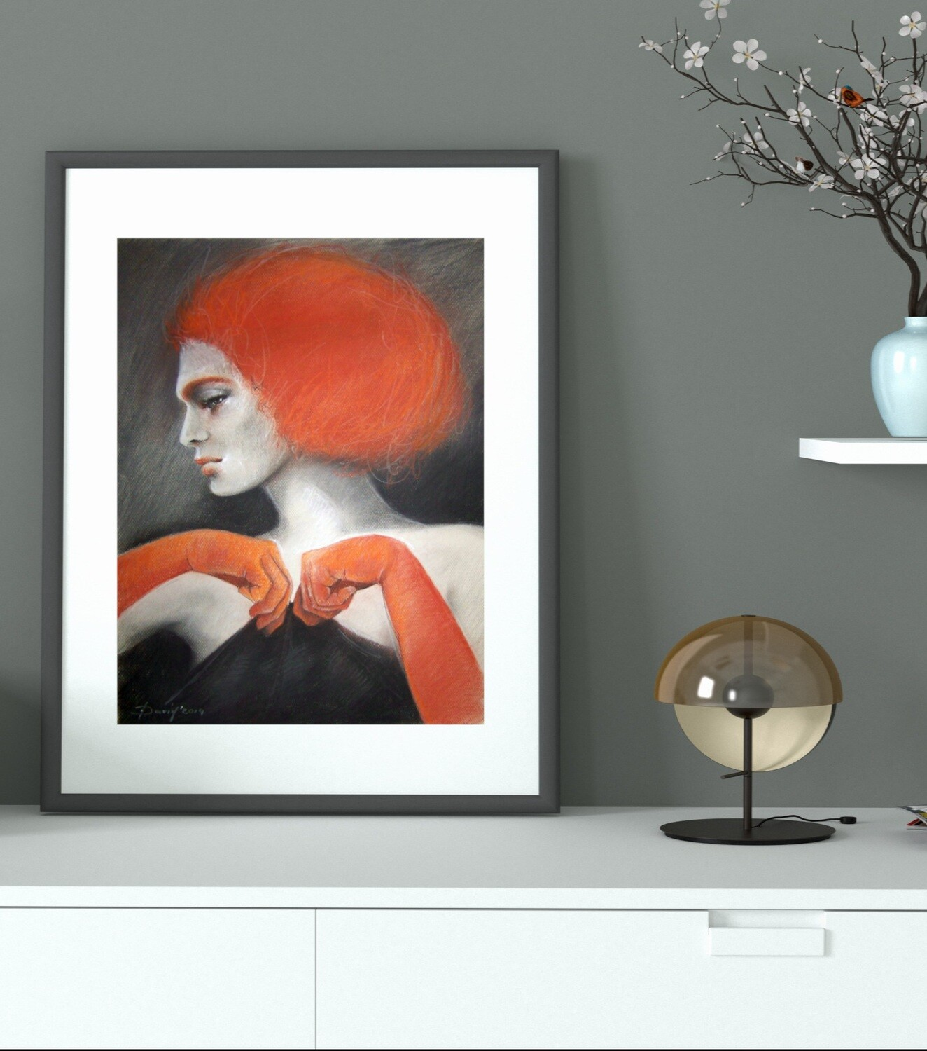 Rothaariges Model - Giclée Fine Art Druck 50x70cm