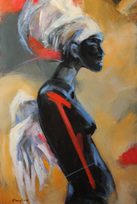 Onset, Original Acryl Gemälde, 60x90cm auf 3-D Leinwand