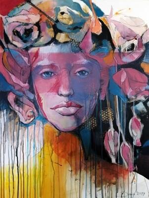 Synthesis, Original Acryl Gemälde, 60x80cm auf Leinwand