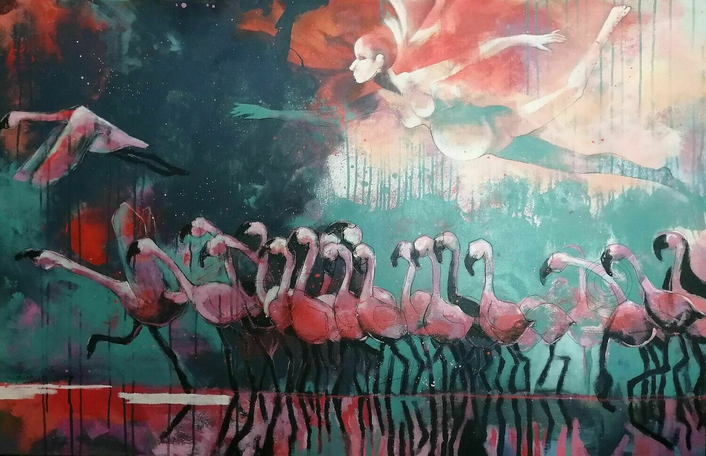 Brut Marching - Statement Gemälde 140x90 cm Großformat