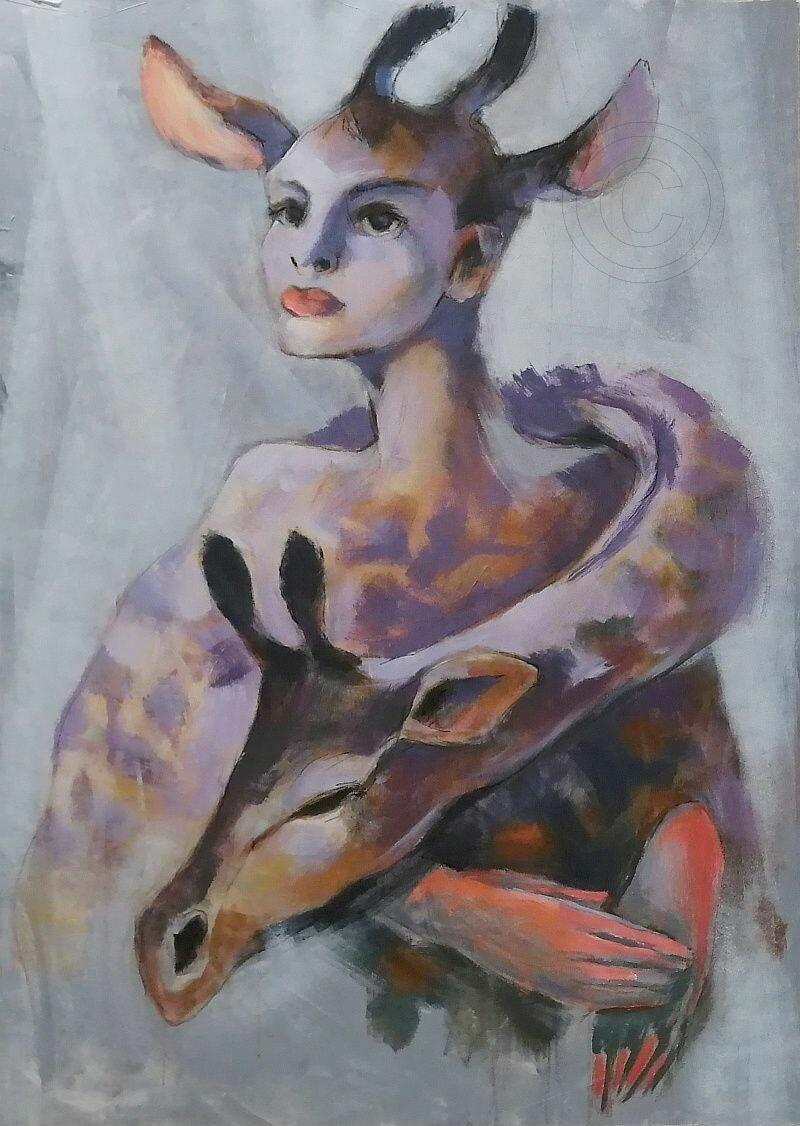 Transition - Statement Gemälde Großformat 100x140 cm