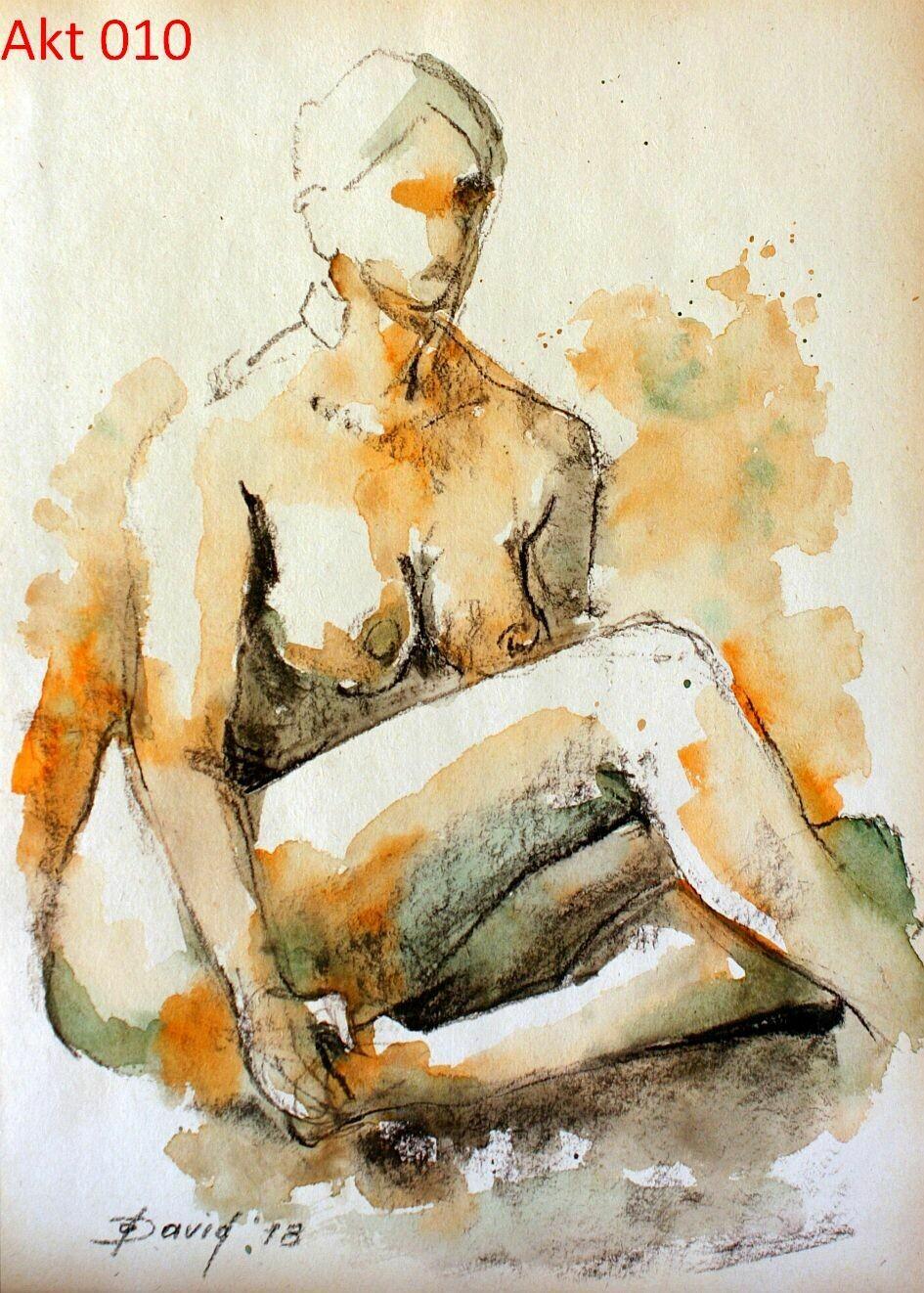 Aktmalerei, Original Akt Zeichnungen auf Papier, Format 30x42 cm