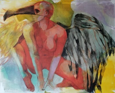 Exile inside- figuratives Original Gemälde Großformat 110x90 cm