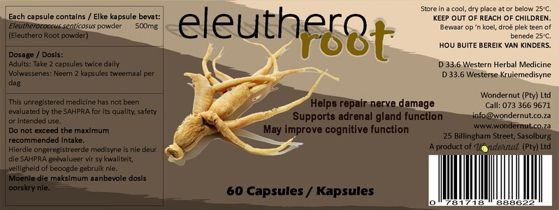 New and Upcoming products: Eleuthero root 60 capsules