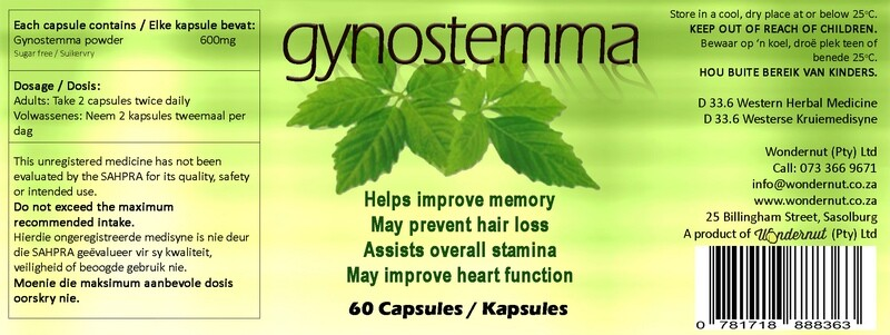 New and Upcoming products: Gynostemma 60 capsules