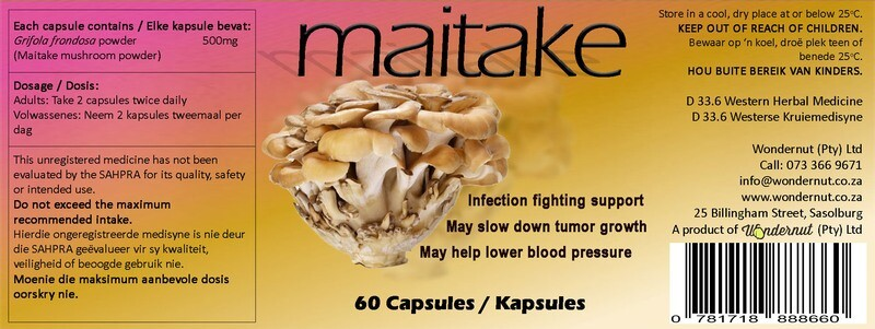 New and upcoming products: Maitake 60 capsules