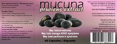 New and upcoming products: Mucuna